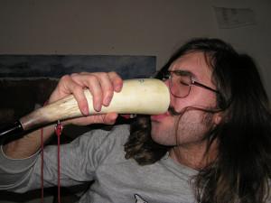 horn drinking fan